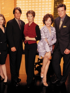 Dixie Carter and the cast of 'Family Law' in 2000