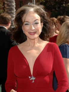 Dixie Carter is a vision in red at the 2007 Creative Arts Emmy Awards in LA on September 8, 2007