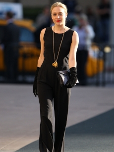 Chloe Sevigny steps out in all black at Lincoln Center, NYC, April 12, 2010