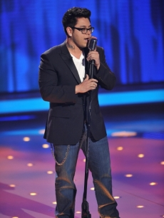 Andrew Garcia takes on Elvis' 'Hound Dog' on 'American Idol' Final 9 night on April 13, 2010