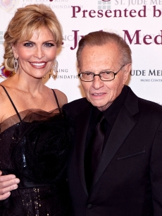 Larry King and wife Shawn Southwick on March 10, 2010