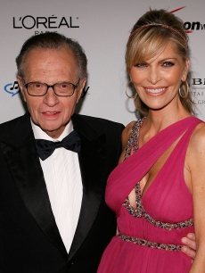 Larry King and wife Shawn Southwick in February 2007