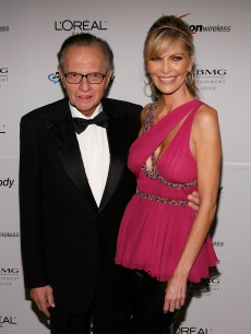 Larry King and then-wife Shawn Southwick in February 2007