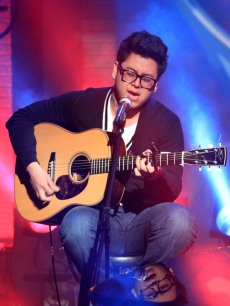 Andrew Garcia sings on the Access set, April 16, 2010