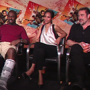 Jeffrey Dean Morgan, Zoe Saldana &amp; Idris Elba Talk &#8216;The Losers&#8217;