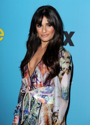 Lea Michele arrives at FOX's 'Glee' spring premiere soiree held at Bar Marmont, Los Angeles, April 12, 2010