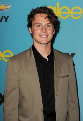 Jonathan Groff arrives at Fox's 'Glee' spring premiere soiree held at Bar Marmont in Los Angeles, California on April 12, 2010