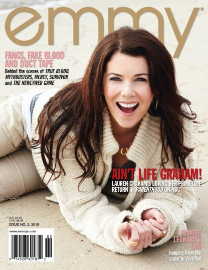 Lauren Graham in Issue No. 2, 2010 of emmy Magazine.