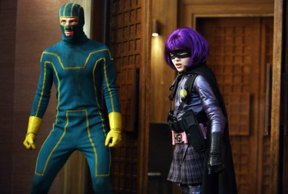 Aaron Johnson and Chloe Grace Moretz in Lionsgate's 'Kick-Ass'