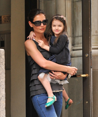 Katie Holmes and Suri Cruise step out in New York City on April 11, 2010