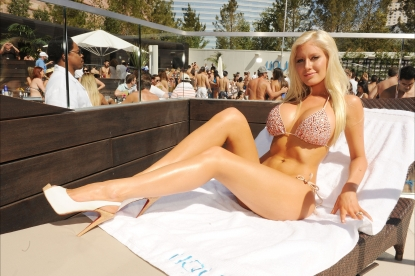 Heidi Montag attends Liquid Pool at Aria at CityCenter in Las Vegas, Nevada on April 10, 2010