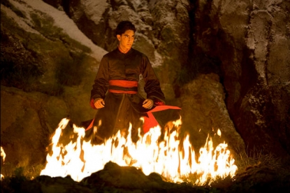 Dev Patel in a scene from 'The Last Airbender,' due July 2