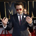 Robert Downey Jr. gives his best Tony Stark look at the world premiere of &#8216;Iron Man 2&#8217; at the El Capitan Theatre in Los Angeles on April 26, 2010