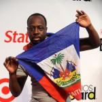 Wyclef Jean shows his Haitian pride at the 2010 Billboard Latin Music Awards in San Juan, Puerto Rico, on April 29, 2010
