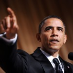 President Barack Obama speaks during the 2010 White House Correspondents' Dinner in Washington, D.C. on May 1, 2010