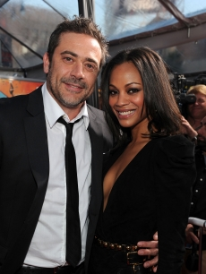 Jeffrey Dean Morgan and Zoe Saldana arrive at 'The Losers' Premiere at Grauman's Chinese Theatre on April 20, 2010 in Hollywood, California.