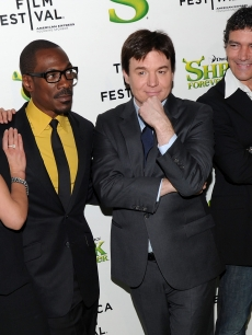 Cameron Diaz, Antonio Banderas, Eddie Murphy and Mike Myers attend the 2010 Tribeca Film Festival opening night premiere of 'Shrek Forever After' at the Ziegfeld Theatre, NYC, April 21, 2010