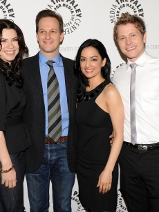 Julianna Margulies, Josh Charles, Archie Panjabi, and Matt Czuchry attend an evening with 'The Good Wife' at The Paley Center for Media, NYC, April 21, 2010