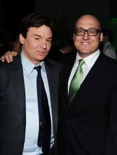 Mike Myers and director Mike Mitchell at the premiere of 'Shrek Forever' at the Tribeca Film Festival in New York on April 21, 2010