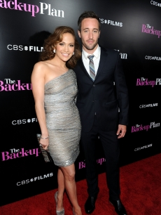 'The Back-Up Plan' stars Jennifer Lopez and Alex O'Loughlin at the film's premiere in LA on April 21, 2010