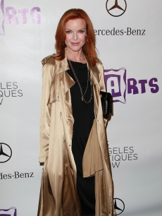 Marcia Cross attends the 15th Annual Los Angeles Antique Show Opening Night Preview Party benefiting P.S. ARTS at Barker Hanger in Santa Monica, Calif. on April 21, 2010 