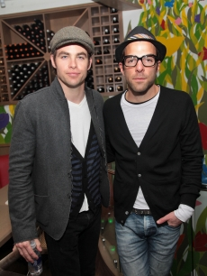 &#8216;Star Trek&#8217; hunks Chris Pine and Zachary Quinto step out at the after party for &#8216;Monogamy&#8217; at the Tribeca Film Festival in NYC on April 24, 2010