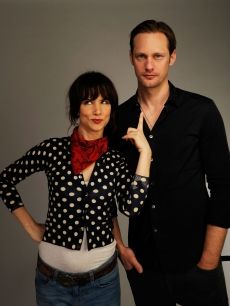 &#8216;Metropia&#8217; stars Juliette Lewis and Alexander Skarsgard goof around at the Tribeca Film Festival portrait studio in NYC on April 25, 2010