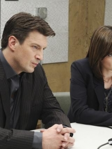 "Nathan Fillion and Stana Katic as Richard Castle and Kate Beckett on ABC's ""Castle"""