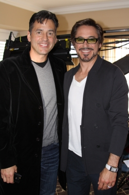 Access' Tony Potts and Robert Downey Jr. at the 'Iron Man 2' press junket on April 26, 2010 in Los Angeles