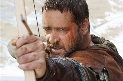 Russell Crowe springs into action in 'Robin Hood'