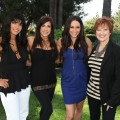 "Teresa Giudice, Jaqueline Laurita and Caroline Manzo from ""The Real Housewives of New Jersey"" with Accesshollywood.com's Laura Saltman"