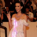 Katy Perry sports a glowing gown at the Costume Institute Gala Benefit to celebrate the opening of the &#8216;American Woman: Fashioning a National Identity&#8217; exhibition at The Metropolitan Museum of Art in New York City on May 3, 2010 