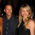 Alex Rodriguez and Cameron Diaz pose for a photo at the CAA Super Bowl Party at the W Hotel - South Beach in Miami Beach, Fla., on February 6, 2010