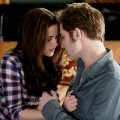 Kristen Stewart and Robert Pattinson share a tender moment in 'The Twilight Saga: Eclipse'