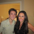 """American Idol"" season nine contestant Aaron Kelly with Accesshollywood.com's Laura Saltman"