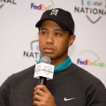 Tiger Woods discusses the upcoming AT&T National Tournament at a press conference at the Aronimink Golf Club, Newtown, Penn., May 10, 2010