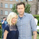 Tori Spelling and Dean McDermott pose during the NBC Universal Summer Press Day 'Days Of Our Lives' after party, Pasadena, April 26, 2010