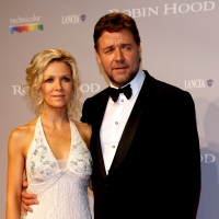 Russell Crowe and wife Danielle Spencer attend the opening night premiere of 'Robin Hood' at the Palais des Festivals during the 63rd Annual International Cannes Film Festival on May 12, 2010