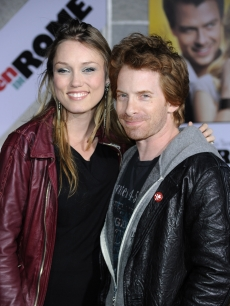 Clare Grant and Seth Green arrive at the premiere of &#8216;When in Rome&#8217; at the El Capitan