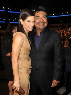 Sandra Bullock and George Lopez during the People's Choice Awards 2010 held at Nokia Theatre L.A. Live in Los Angeles, California on January 6, 2010