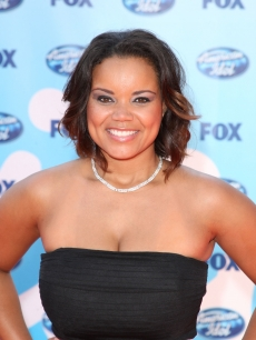 Former 'American Idol' Season 2 finalist Kimberley Locke arrives at the Season 8 finale, Los Angeles, May 20, 2009