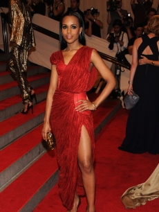 Ravishing in red! Kerry Washington attends the Costume Institute Gala Benefit at The Metropolitan Museum of Art, NYC, May 3, 2010
