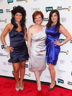 Teresa Giudice, Caroline Manzo, and Jacqueline Laurita attends Bravo's 'The Real Housewives of New Jersey' season two premiere at The Brownstone, New Jersey, May 3, 2010