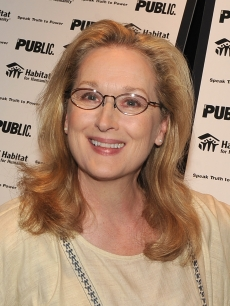 Meryl Streep attends the 'Speak Truth To Power: Voices Beyond The Dark' benefit reading at The Public Theater in New York City on May 3, 2010