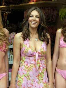 Elizabeth Hurley attends the opening of her first store in Spain, &#8216;Elizabeth Hurley Beach,&#8217; at La Rocca Village Outlet in Barcelona, Spain on May 4, 2010 
