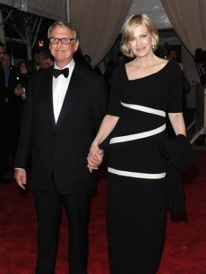 Mike Nichols and Diane Sawyer arrive at the Metropolitan Museum of Art Costume Institute gala on May 3, 2010 in New York City