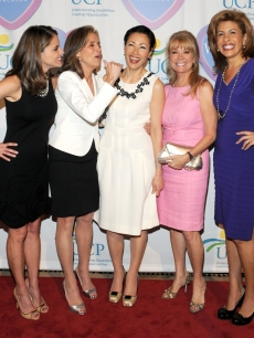 Natalie Morales, Meredith Vieira, Ann Curry, Kathie Lee Gifford and Hoda Kotb attend the 9th Annual Women Who Care luncheon benefiting United Cerebral Palsy of New York City at Cipriani 42nd Street, NYC, May 6, 2010