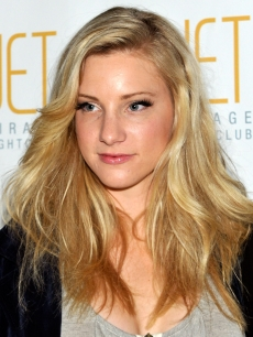 Heather Morris arrives at a 23rd birthday celebration for fellow 'Glee' cast member Naya Rivera at the Jet Nightclub at the Mirage Hotel & Casino February 7, 2010 in Las Vegas, Nevada