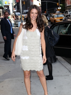 Evangeline Lilly visits &#8216;Late Show With David Letterman&#8217; at the Ed Sullivan Theater, NYC,May 10, 2010 