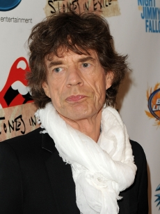 Mick Jagger attends the re-release of The Rolling Stones' 'Exile on Main St.' album at The Museum of Modern Art, NYC, May 11, 2010